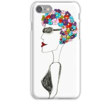 Happiness = 1930s swimming cap iPhone Case/Skin