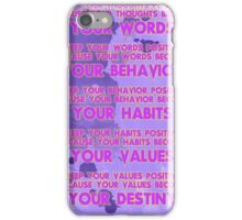 Motivational Quotes - Keep your words positive - Ghandi-4 iPhone Case/Skin
