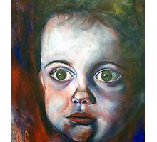 wide eyed boy Photographic Print