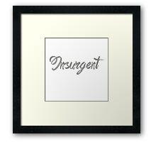 DIVERGENT - INSURGENT Framed Print