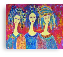 Best selling decorative woman painting Large Sized Canvas Print
