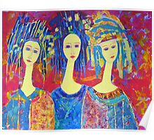 Best selling decorative woman painting Large Sized Poster
