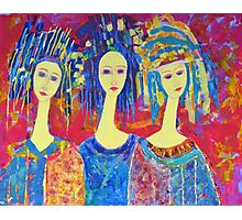 Best selling decorative woman painting Large Sized Photographic Print