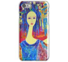 Best selling decorative woman painting Large Sized iPhone Case/Skin