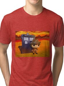 4th Doctor On Gallifrey Tri-blend T-Shirt