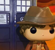 4th Doctor On Gallifrey Sticker