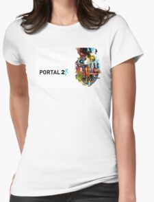 Portal 2 Characters Womens Fitted T-Shirt