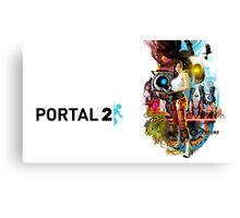 Portal 2 Characters Canvas Print