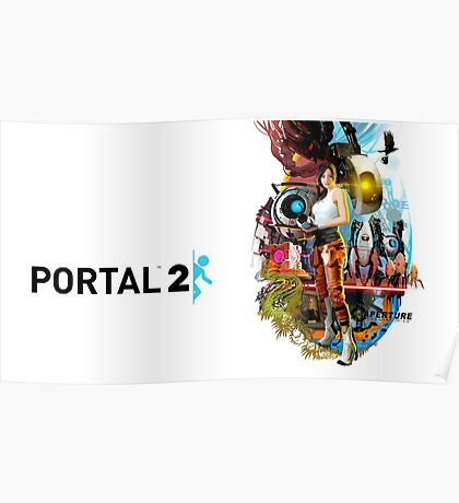 Portal 2 Characters Poster