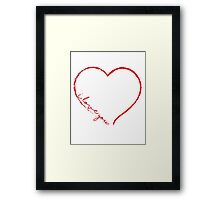 I love you V.1.4. Framed Print
