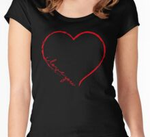 I love you V.1.4. Women's Fitted Scoop T-Shirt
