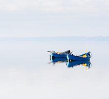 A pair of blue boats. by Patrizio Martorana