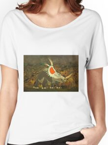 A Jolly Cerotopsian Dinosaur from the Cretaceous Period Women's Relaxed Fit T-Shirt