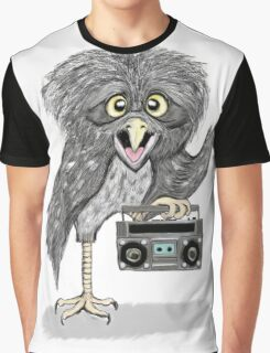 owl with music Graphic T-Shirt
