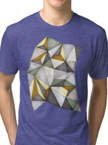 Geometric Waste Paper Tri-blend T-Shirt
