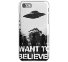 X Files I Want to Believe iPhone Case/Skin
