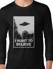 X Files I Want to Believe Long Sleeve T-Shirt