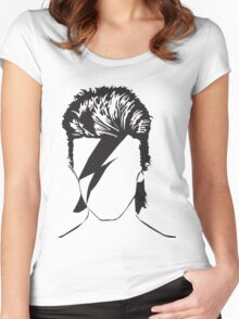 David as Ziggy - vacant expression Women's Fitted Scoop T-Shirt