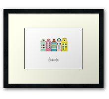 amsterdam - coloured houses Framed Print