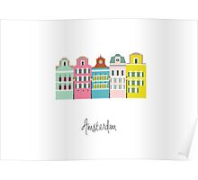 amsterdam - coloured houses Poster