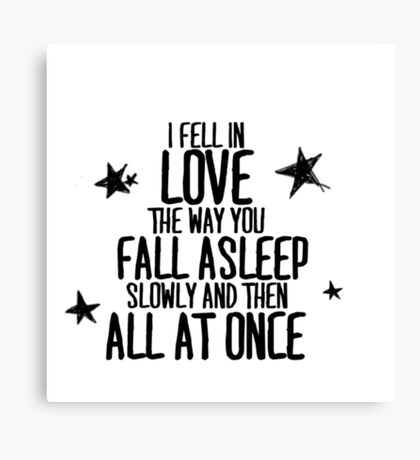 THE FAULT IN OUR STARS - LOVE Canvas Print