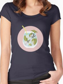 Cute cocktail Women's Fitted Scoop T-Shirt
