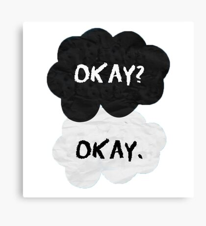THE FAULT IN OUR STARS - OKAY Canvas Print