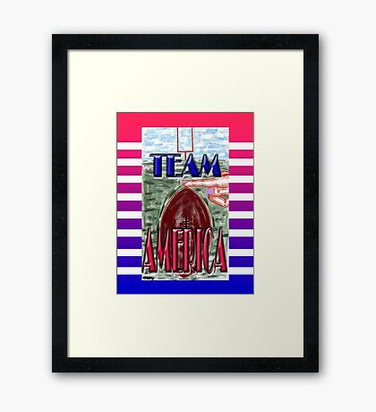 TEAM AMERICA Framed Print