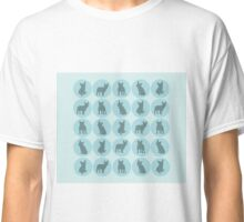 Teal polka dots French Bulldog design Classic T-Shirt