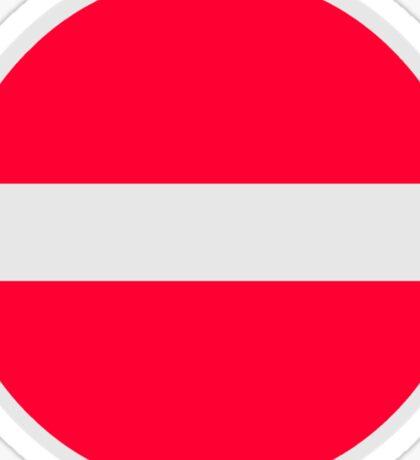 No Entry Symbol Sticker