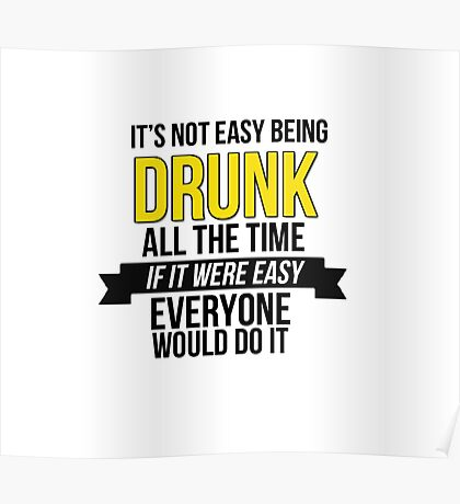 GAME OF THRONES - DRUNK Poster