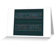 Urban lines b Greeting Card