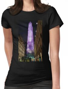 NY skyscraper Womens Fitted T-Shirt