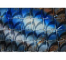 Chain Link Fence With Colors and Shadows Photographic Print