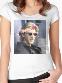 Dylan klebold flower crown. Women's Fitted Scoop T-Shirt