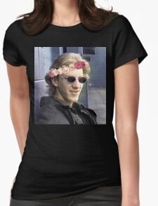 Dylan klebold flower crown. Womens Fitted T-Shirt
