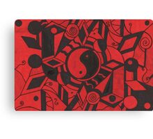 Yin And Yang Black And Red Haze Canvas Print