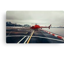 Red Helicopter Metal Print