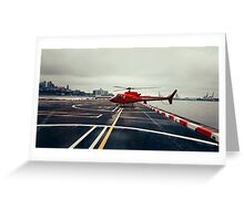 Red Helicopter Greeting Card