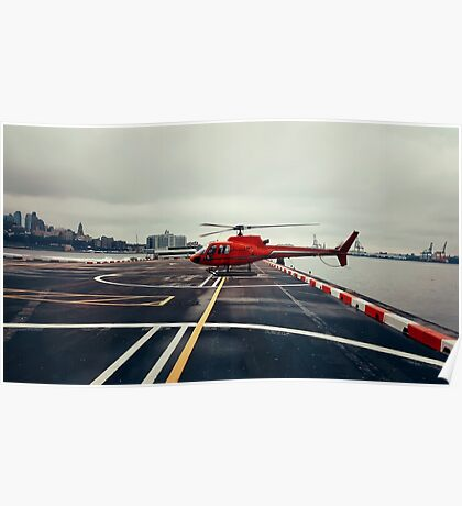 Red Helicopter Poster