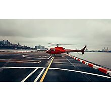 Red Helicopter Photographic Print