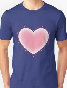 Valentines Day Pink Love Heart T-Shirt