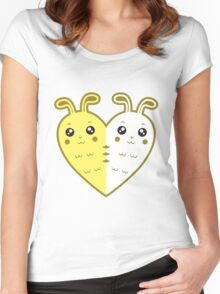 Cute rabbit-heart Women's Fitted Scoop T-Shirt