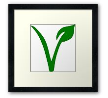 Vegetarian Symbol Framed Print