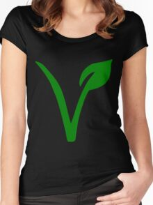 Vegetarian Symbol Women's Fitted Scoop T-Shirt