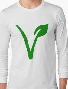 Vegetarian Symbol Long Sleeve T-Shirt