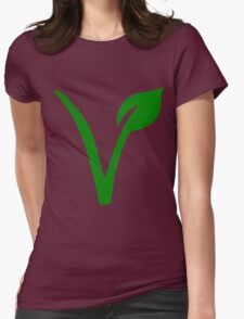 Vegetarian Symbol Womens Fitted T-Shirt