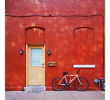 Red Building Photographic Print