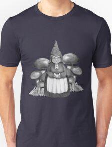 Gnome Woman and Mushrooms, Toadstools: Pencil Art T-Shirt