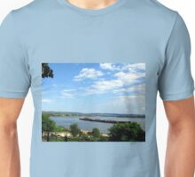 The Blue Danube and the Remains of Trajan's Bridge Unisex T-Shirt